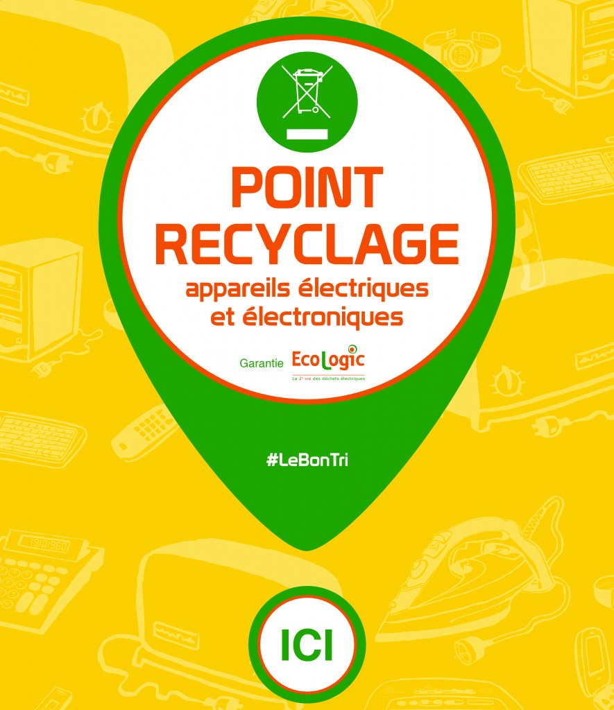 Affiche Point de recyclage