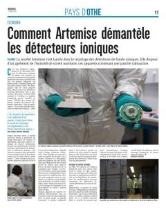 Article de l'Est Eclair sur le démantèlement des détecteurs ioniques